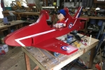 Red Arrow and groundcrew off to new airfield